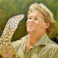 Steve Irwin Painting by Jason Swain
