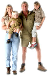 Steve Irwin and Family